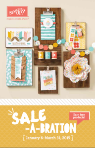 Sale-a-Bration 2015 - Jan. 6 - Mar 31, 2015 - Order at www.SimplySimpleStamping.com