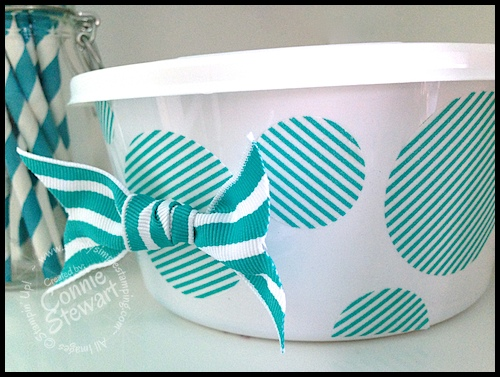 Upcycle those Cool Whip containers!  Check out how at www.SimplySimpleStamping.com