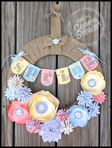 Paper Flower Wreath - www.SimplySimpleStamping.com