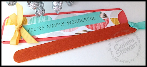 Simply Simple PRETTY LITTLE NAIL FILE by Connie Stewart - see the video tutorial at www.SimplySimpleStamping.com - February 16, 2015