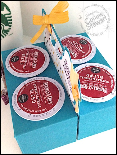 K-Cup holder by Connie Stewart - Video tutorial - February 26, 2015 - www.SimplySimpleStamping.com