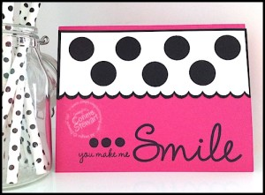 FLASH CARD 2.0 - Polka Dotted 'Smile' Card by Connie Stewart - www.SimplySimpleStamping.com - video on the March 9, 2015 blog post