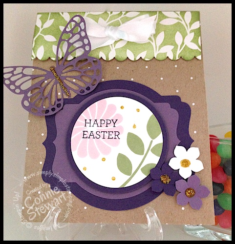 March 2015 You Can Create It International - Happy Easter Treat Bag created by Connie Stewart - www.SimplySimpleStamping.com