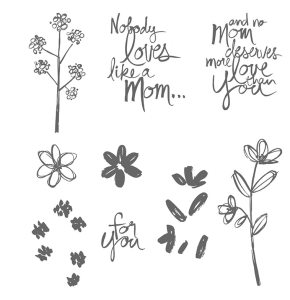 Mother's Love stamp set by Stampin' Up.  Order yours before June 2, 2015 at www.SimplySimpleStamping.com