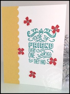 FLASH CARD 2.0 - Flowery Friend Card - www.SimplySimpleStamping.com - June 29, 2015 blog post - video tutorial available