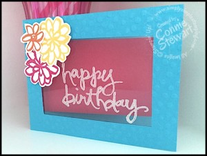 FLASH CARD - Watercolor Window -  - Created by Connie Stewart - www.SimplySimpleStamping.com - blog post July 30, 2015