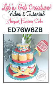 August 2015 Let's Get Creative Video & Tutorial - get the tutorial FREE with a $20 or more order in August. Order at www.SimplySimpleStamping.com
