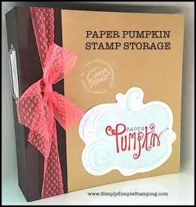 Storing and Organizing Paper Pumpkin Stamps - Connie Stewart - www.SimplySimpleStamping.com - August 4, 2015