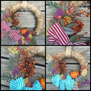 Fabulous Fall Wreath Collage
