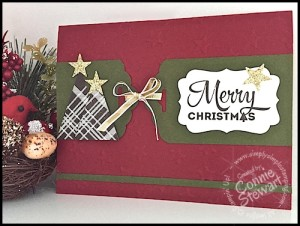 FLASH CARD 2.0 - Scallop Tag Merry Christmas Card - see the video tutorial at www.SimplySimpleStamping.com - November 9, 2015 blog post