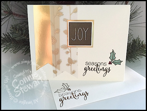 Stampin' Gals Gone Wild Weekend Challenge for November 27, 2015 - join us at www.SimplySimpleStamping.com