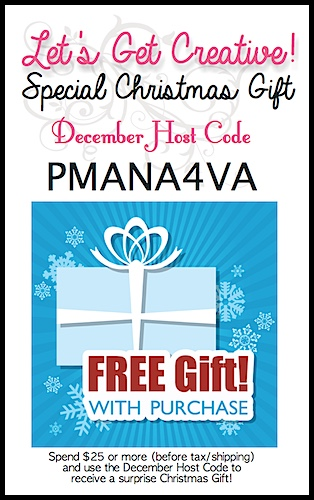 Receive a FREE GIFT with a $25 or more purchase in December, 2015 at www.SimplySimpleStamping.com