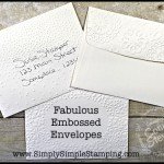 2-Minute Tuesday Tip Video - Fabulous Embossed Envelopes - www.SimplySimpleStamping.com - see the January 26, 2016 blog post for the video tutorial