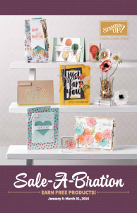 Sale-a-Bration Catalog 2016 - Download your copy at www.SimplySimpleStamping.com