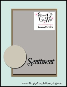 Stampin' Gals Gone Wild Weekend Challenge for January 29, 2016 - check it out at www.SimplySimpleStamping.com