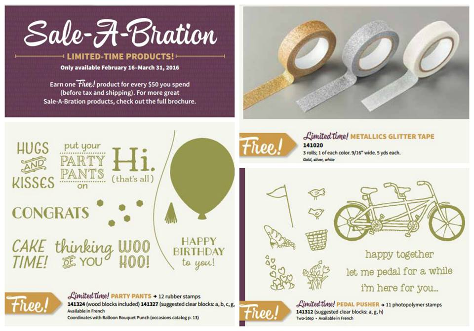 NEW Sale-a-Bration FREE products announced today! FREE with each $50 order at www.SimplySimpleStamping.com