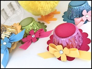VIDEO TUTORIAL - Reese's Peanut Butter Cup Easter Bonnets - www.SimplySimpleStamping.com - look for the March 10, 2016 blog post