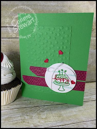 FLASH CARD – Endless Wishes Washi Birthday Card – Video No. 79