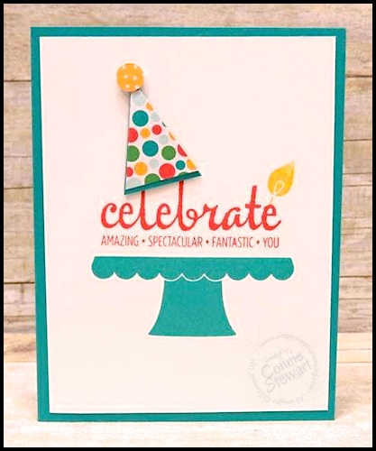 Make It Monday Build A Birthday Party Hat Card Simply Simple