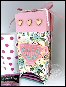 Love-ly Tea Gift Box - April 2016 Let's Get Creative - get a free video & written tutorial with any $20 order when you use the April Host Code 4GCGVPKX at www.SimplySimpleStamping.com
