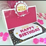 FLASH CARD 2.0 Video - Happy Birthday Easel Card - see the video at www.SimplySimpleStamping.com.  Just look for the April 7, 2016 blog post!