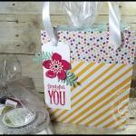 VIDEO TUTORIAL - Designer Paper Gift Box Bag - www.SimplySimpleStamping.com - look for the April 14, 2016 blog post!