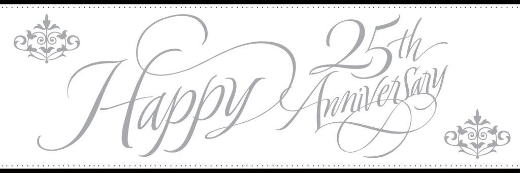 Happy 25th Wedding Anniversary!