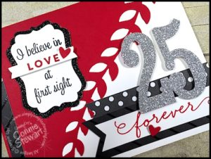 25 years of Wedded Bliss! www.SimplySimpleStamping.com - May 18, 2016 blog post