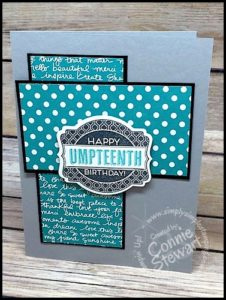 Stampin' Gals Gone Wild Weekend Challenge for May 27, 2016 - check it out at www.SimplySimpleStamping.com