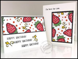SUPER FLASH CARD Video Tutorial - 8 Cards with the Fresh Fruit stamp set - see the video at www.SimplySimpleStamping.com. Just look for the June 22, 2016 blog post!
