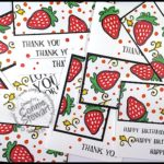 SUPER FLASH CARD Video Tutorial - 8 Cards with the Fresh Fruit stamp set - see the video at www.SimplySimpleStamping.com. Just look for the April 26, 2017 blog post!