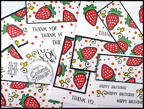 Saying Good-Bye to….Fresh Fruit stamp set