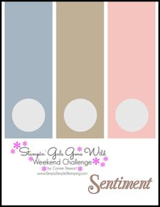 Stampin' Gals Gone Wild Weekend Challenge for July 1, 2016 - check it out at www.SimplySimpleStamping.com