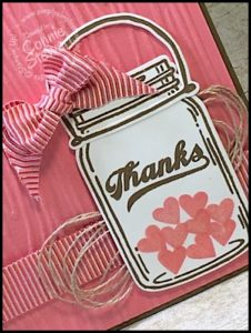 MAKE IT MONDAY - Jar of Thanks Card - FREE TUTORIAL at www.SimplySimpleStamping.com - look for the June 27, 2016 blog post