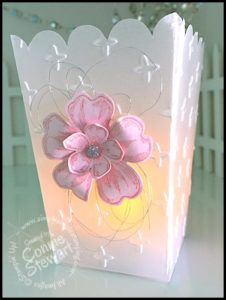 Vellum Tea Light - Video No. 4 in the Popcorn Box Mini Series - see it at www.SimplySimpleStamping.com - look for the July 13, 2016 blog post