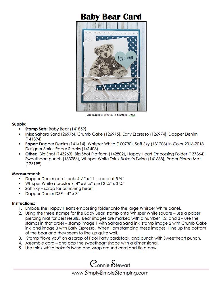 MONDAY MAKE IT – Baby Bear Card