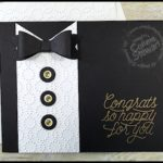 FLASH CARD 2.0 Video Tutorial - Tuxedo Card - see the video at www.SimplySimpleStamping.com - look for the August 4, 2016 blog post