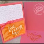 FLASH CARD Video Tutorial - Live Laugh Love Card - see the video at www.SimplySimpleStamping.com.  Just look for the August 25, 2016 blog post!
