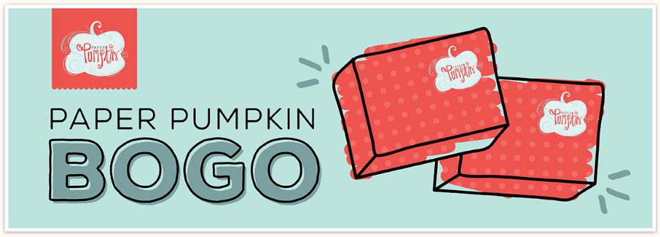 BOGO ALERT! For the FIRST time ever, FIRST-time subscribers can buy their FIRST month and get their second month completely FREE! Sign up at PaperPumpkin.com and use BOGO for the promo code. www.SimplySimpleStamping.com