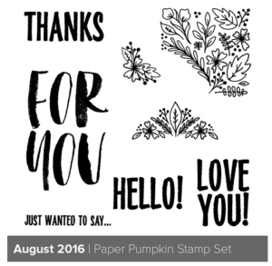 August 2016 Paper Pumpkin Sneak Peek! Get a dozen exclusive tutorials when you subscribe to Paper Pumpkin through Connie Stewart at www.SimplySimpleStamping.com