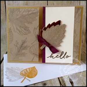 Make It Monday - Vintage Leaves Hello Card - download the FREE tutorial at www.SimplySimpleStamping.com - look for the September 26, 2016 blog post!