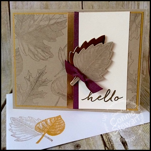Make It Monday – Vintage Leaves Hello