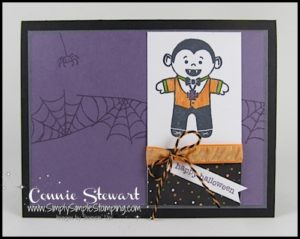 Make It Monday - Cookie Cutter Dracula Card - download the FREE tutorial at www.SimplySimpleStamping.com - look for the October 17, 2016 blog post!
