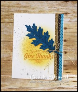 Make It Monday - Give Thanks Card - download the FREE tutorial at www.SimplySimpleStamping.com - look for the October 24, 2016 blog post!