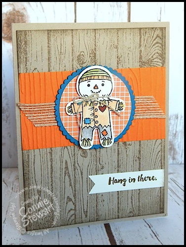 Make It Monday – Hang in There Scarecrow Card