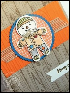 Make It Monday - Hang in There Scarecrow Card - download the FREE tutorial at www.SimplySimpleStamping.com - look for the October 3, 2016 blog post!