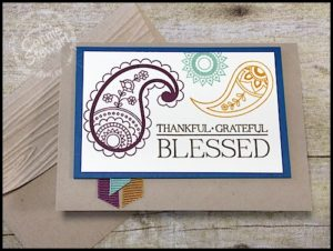 Make It Monday - Thankful Grateful Blessed Card - download the FREE tutorial at www.SimplySimpleStamping.com - look for the October 10, 2016 blog post!