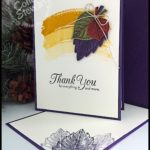 MAKE IT IN MINUTES - Create this quick and elegant Falling Leaves card in a matter of minutes!  Check it out at www.SimplySimpleStamping.com - look for the October 6, 2016 blog post