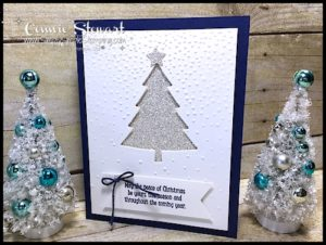 MAKE IT IN MINUTES - Create this Peaceful Pines card in a matter of minutes! Check it out at www.SimplySimpleStamping.com - look for the October 20, 2016 blog post