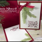 MAKE IT IN MINUTES - Create this Christmas Pines card in a matter of minutes!  Check it out at www.SimplySimpleStamping.com - look for the October 19, 2016 blog post